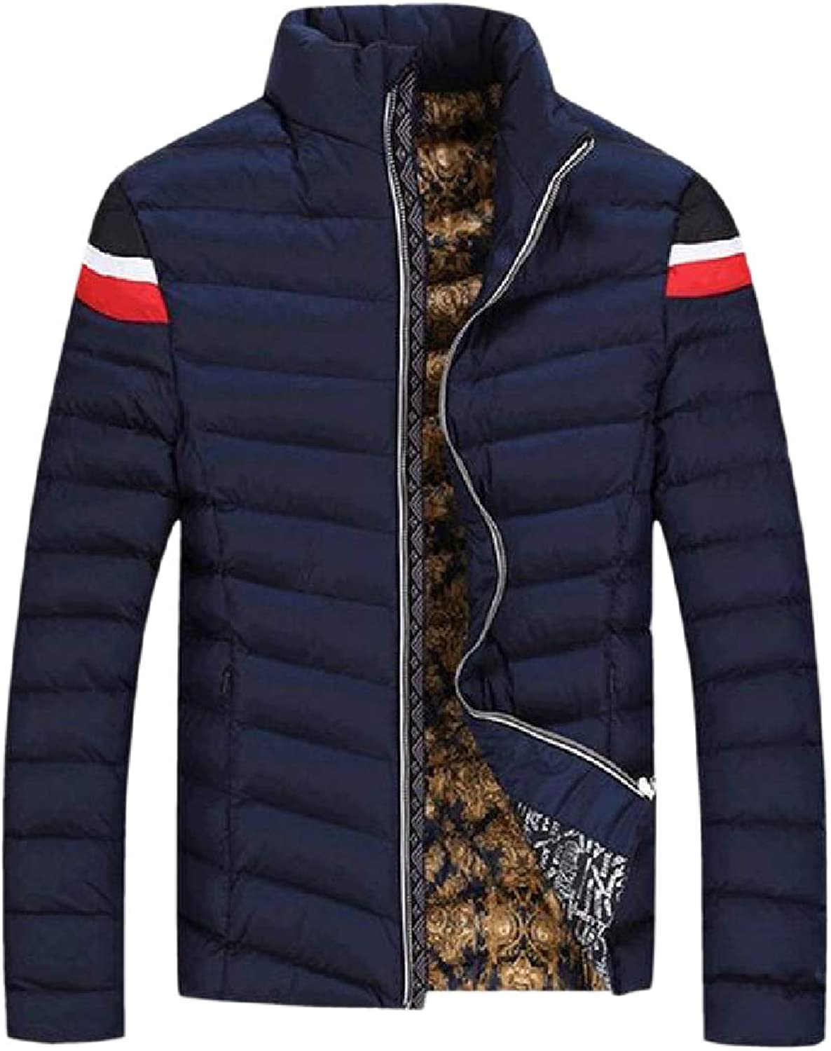 596ccd6b FieerMen Stand-up Collar Zip Up Up Up Warm Winter Stylish Slim-Fit Thick  Coat 26927b