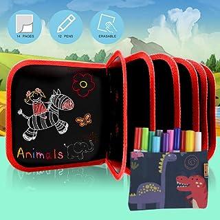 PanDaDa Bloc de Dessin Effaçable pour Enfants, Enfant Doodle Planches Réutilisable, Enfant Dessin Livre, Peinture Ecriture...