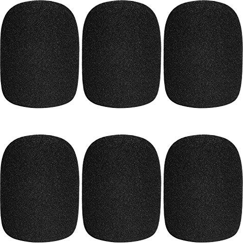 ChromLives Microphone Cover Microphone Windscreen Foam Cover Black Top Grade 6 Pack