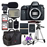 Canon EOS 6D Mark II Digital SLR Camera Body + 2X 64GB SDHC Memory Cards + Accessory Bundle