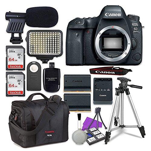 Canon EOS 6D Mark II Digital SLR Camera Body + 2X...