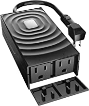 meross Smart WiFi Outdoor and Indoor Plug with 2 Grounded Sockets, Plug-in Heavy Duty Outlet, Remote Control, Timer, Waterproof, Works with Alexa, Google Assistant and IFTTT, FCC and ETL Certified