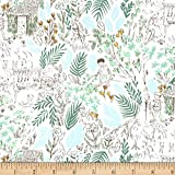 Michael Miller Peter Pan Stretch Jersey Knit The Little House Fern, Fabric by the Yard
