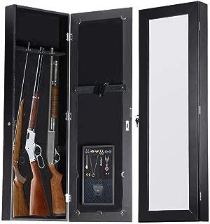 Gun Cabinet Mirror Armoire for Small Hunting Rifles/Tactical Guns (42.5 x 14 x 3.5 inches)