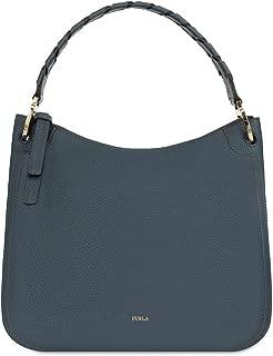 Furla Rialto Ladies Medium Gray Ardesia Leather Hobo Bag 977650