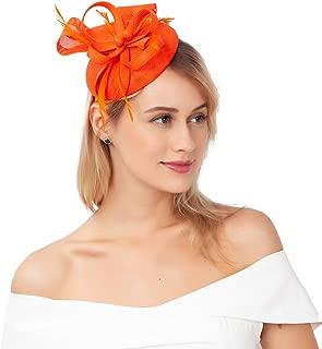 JASMINO Fascinators Hats Women Tea Party Headband Derby Hats Pillbox Hat Flag Headband for Girl