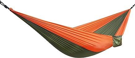 GUTSBOX Ultralight Travel Camping Hammock Parachute Nylon Hanging Bed with Tree Ropes Sleeping Swing for Beach Yard Park Outdoors 270x140cm