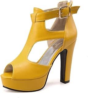 yellow summer heels