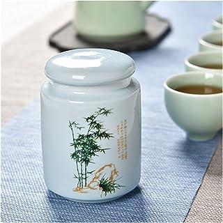 Porcelaine Conteneur Organisateur Bocaux de rangement scellés à thé avec couvercles de rangement en céramique Tin pot pour...