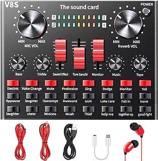 کارت صدای زنده ، تغییر صدای ALPOWL با جلوه های صوتی چندگانه ، میکسر صدا V8S برای پخش زنده بازی ضبط آواز کارائوکه در تلفن های همراه ، آیفون ، کامپیوتر ، لپ تاپ ، تبلت