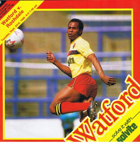 Watford v Rochdale FC 23/09/86 (Vicarage Road) football programme