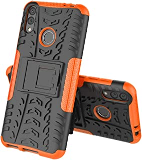 TenYll case For Huawei Honor 8C, Shockproof Tough Heavy Duty Armour Back Case Cover Pouch With Stand Double Protective Cover Huawei Honor 8C Case -Orange