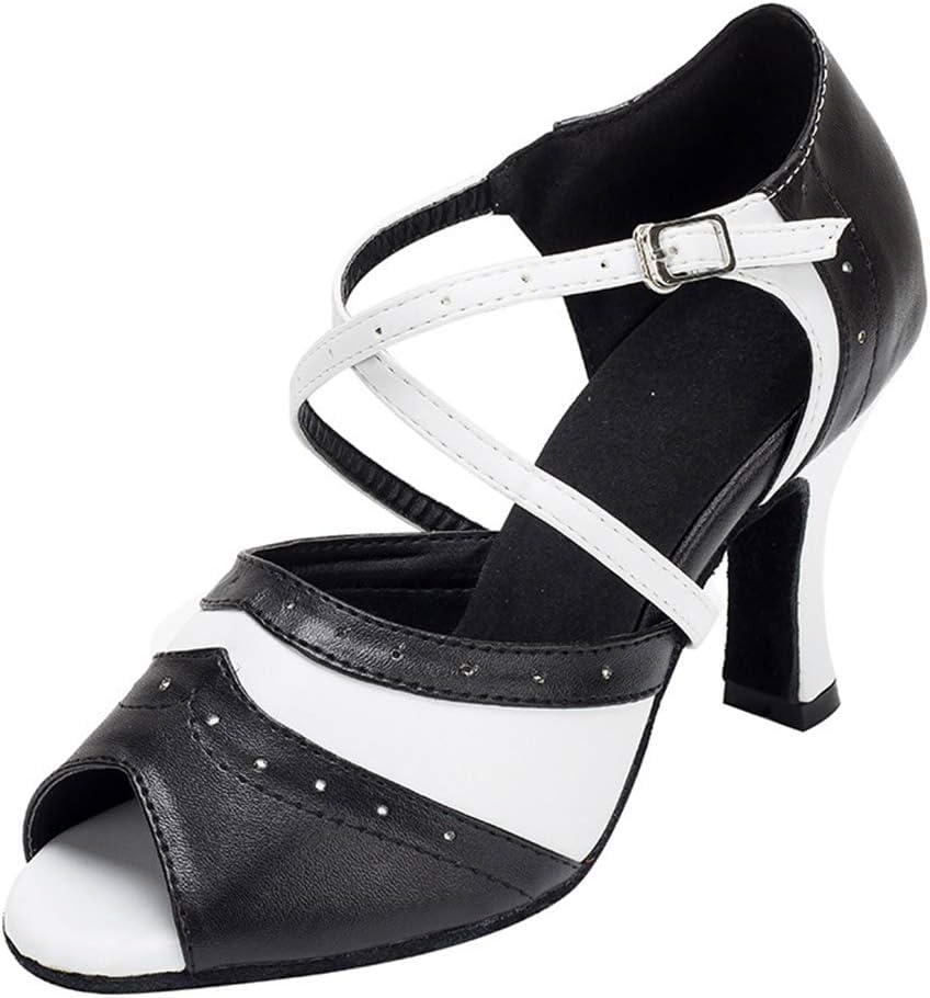 Lefuyan Women's Latin Dance Shoes, Women Latin Salsa Practice Dancer Shoes Professional Ballroom Salsa Practice Performance