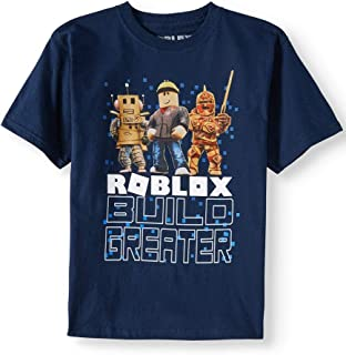 Roblox Build Greater Big and Little Boys T Shirt (XL (14/16)) Navy