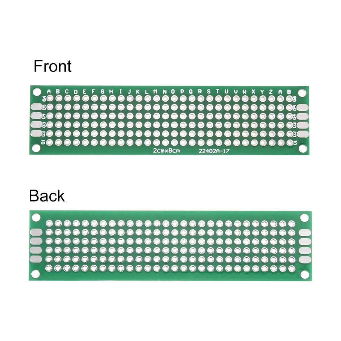 5PCS Double Side Prototype PCB Tinned Universal Breadboard 2x8 cm 20mmx80mm FR4