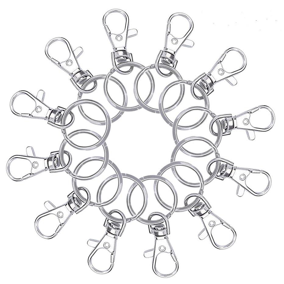 120 Pcs Metal Swivel Lanyard Snap Hook with Key Rings(50 Pcs Key Hook and 70 Pcs Key Rings)