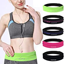 GEARWEAR Waistband Running Belt for Phone Holder Runner Pocket Pouch for Wallking Fitness Jogging Workout Gym Sports Travel Exercise iPhone XR XS MAX 8 Plus Samsung S10