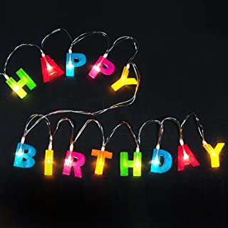 Bright Zeal BZ Multicolor Letter Happy Birthday LED String Lights (1.2