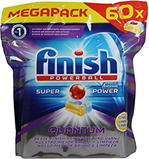 Finish Powerball Super Power Quantum Lemon Dishwashing 60 Tablets 930g