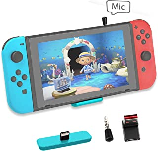 Bluetooth Adapter for Nintendo Switch Accessories USB-C Connector Wireless Audio Transmitter with aptX LL, Support in-Game...