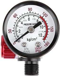 Cuque 1/4-Inch BSP Air Pressure Regulator Spray Gun Regulator with Pressure Gauge Diaphragm Control DH