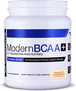 Modern BCAA+ Essential Amino Acid (EAA) Branched Chain Amino Acid (BCAA) Muscle Recovery Supplement Powder Drink Mix, Pine...