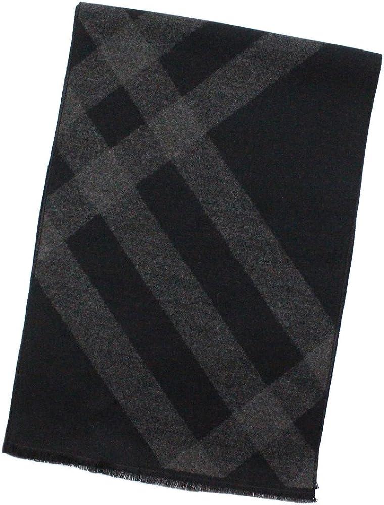 StarGo Warm Cashmere Feel Men Scarf,100% Cotton Fashion Scarves, In Gift Box (Black Grey Check)