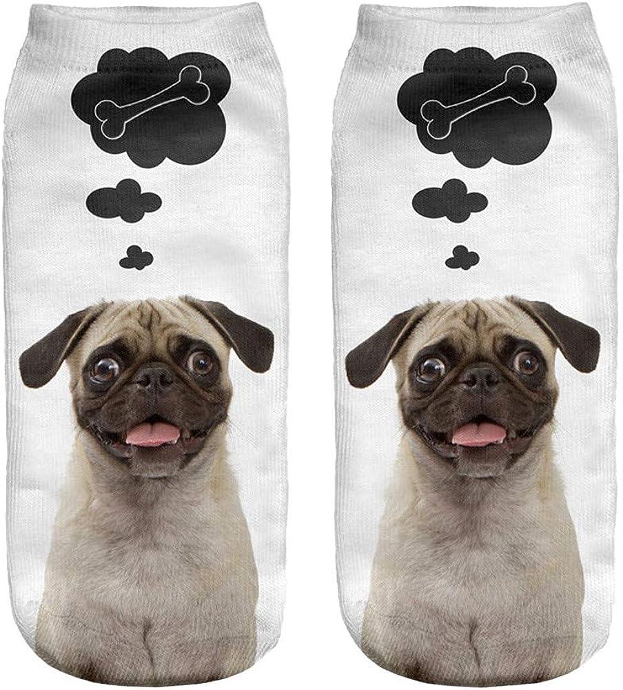 Popular Funny Unisex Short Socks 3D Dog Printed Anklet Socks Casual Socks Thigh Stocking/Casual/Ankle Socks