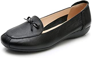 VenusCelia Women's Bowknot Dance Flat Shoe