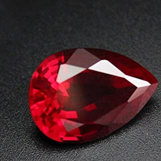 Ruby Pear Shaped Faceted Gemstone Teardrop Cut Ruby Gem Multiple Sizes to Choose C45R