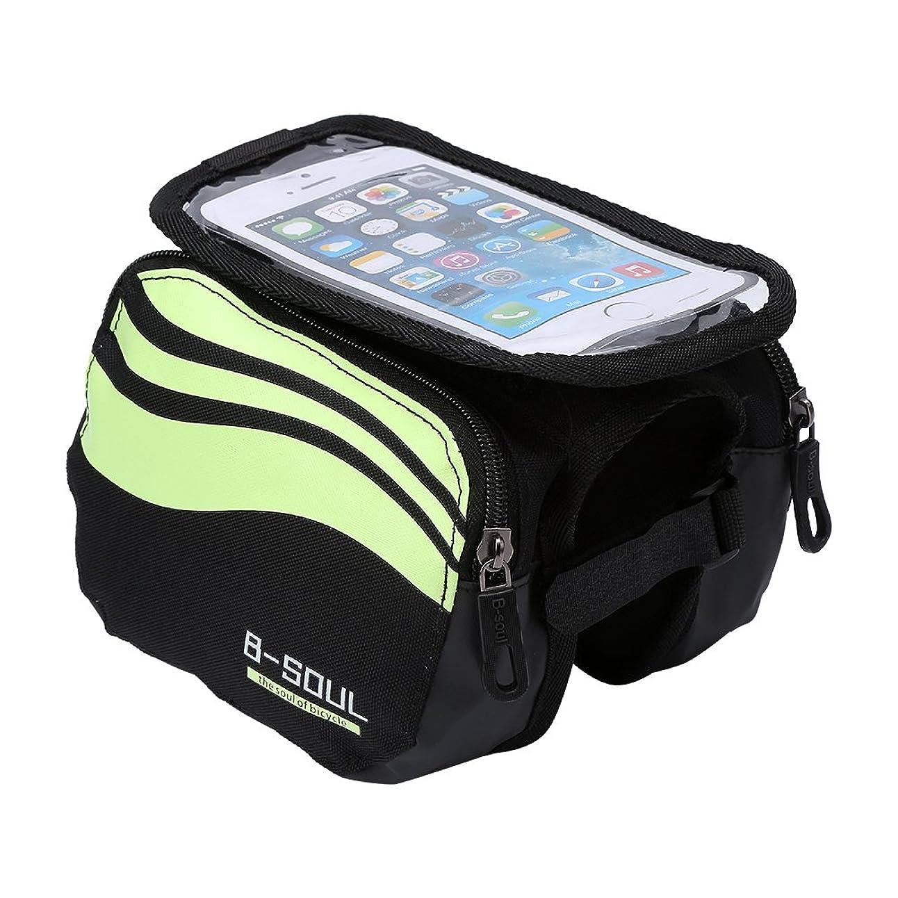 化学薬品約マイクロフォンEboxer 3色 自転車バッグ フロントチューブバッグ 携帯電話 バイクバッグ キャンプ ハイキング サイクリングアクセサリー