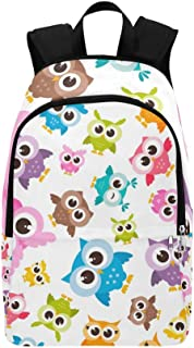 Colorful Funny Owls Owlets Casual Daypack Travel Bag College School Backpack for Mens and Women