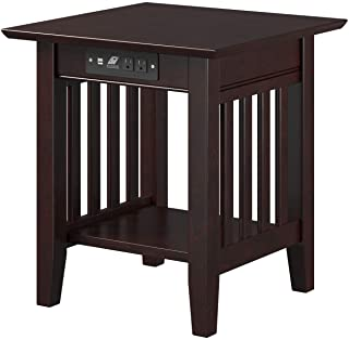 Atlantic Furniture Mission End Table, Espresso