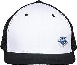 قبعة بيسبول بشريط كبس خلفي من Arena Icons ، أبيض-أسود