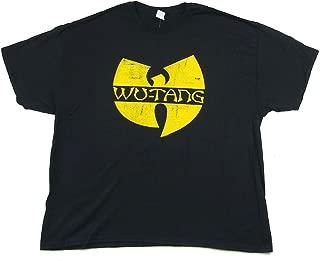 Yellow Distressed W Logo Black T Shirt