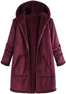 LEKODE Outerwear Women's Solid Cardigan Long Sleeve Warm Coat