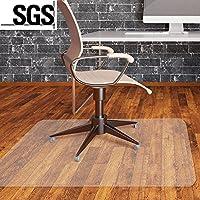 Alfombras MVPower para silla de oficina, 120 x 90cm, de PVC transparente, protección antideslizante, alta resistencia de impacto