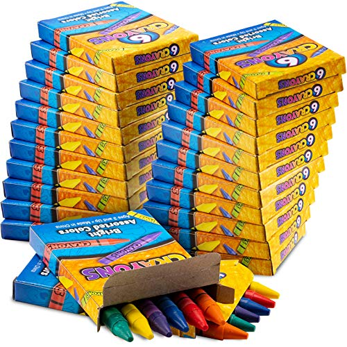 Bulk Crayons - 720 Crayons! Case Of 120 6-Packs, Premium Color Crayons for Kids and Toddlers, Non-Toxic, Perfect for Party Favors, Restaurants, Goody Bags, Stocking Stuffers