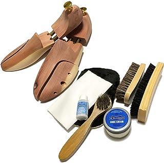 [ワイアールエムエス] シューケア用品 M.モゥブレィセット 靴磨き シューツリー付 フルセット 靴のケアに最適のアイテム満載 靴のお手入れに 靴クリーム ニュートラル