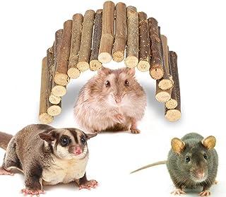dootiハムスター木製はしご ハムスター用ウッドブリッジ 木製 橋 玩具 隠れ家 フェンスクライミングブリッジ(L)