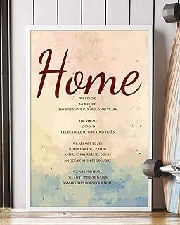 Home Song Lyrics Portrait Poster Print Mattata Decor (16