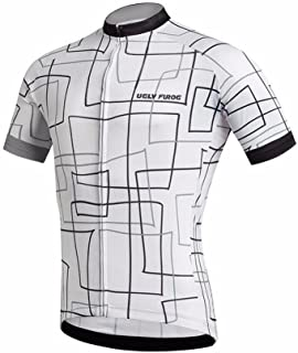 Uglyfrog Newest 2018 Designs Bike Wear Men's Shorts Sleeve Cycling Jersey Tops Bike Clothing Biking Shirt with 3 Pockets H18