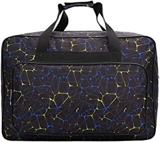 Leorealko Large Capacity Light Travel Sewing Machine Bag Carrying Case Accessories with Pockets and Handles