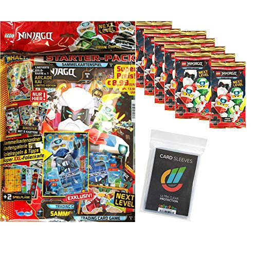 Next Level Lego Ninjago 5 Trading Cards - 1 Starter + 10 Booster + 40 Collect-it Hüllen Sleeves