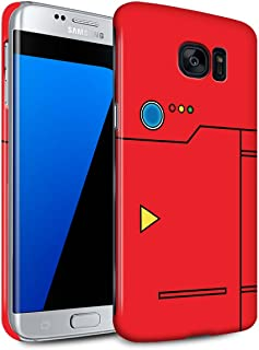 Gloss Phone Case for Samsung Galaxy S7 Edge/G935 Anime Cartoon Codex Red Design Glossy Hard Snap On Cover