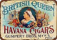 イギリスの女王ハバナ葉巻メタルティンサイン