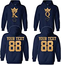 Custom Couple Hoodies, Jerseys, tees, Tanks Customized Names and Numbers for him and her Personalized Matching Couples
