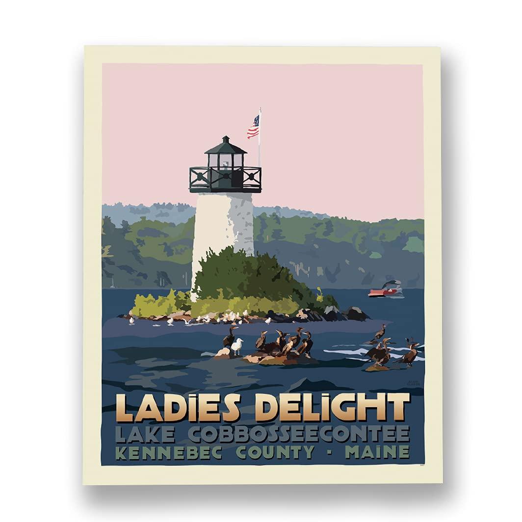 Sunset at Ladies Delight Lighthouse Art Travel 10