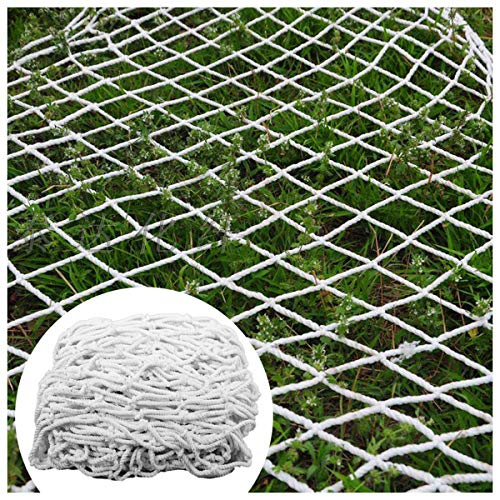 STTHOME Child Safety Net Protection Climbing Frames Grow Net For Tent Climbing Plants Safety Netting For Balcony/dogs Safety Nets For Stair Railing Heavy Duty 6mm/5cm White Multi-size (Size : 6x8m)