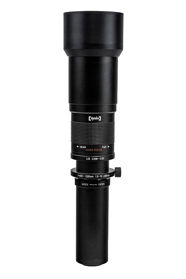 Opteka 650-1300mm f/8 HD Telephoto Zoom Lens for Sony Alpha A99, A77, A65, A58, A57, A55, A37, A35, A33, A900, A700, A580, A560, A550, A390, A380, A330 and A290 Digital SLR Cameras (Black)